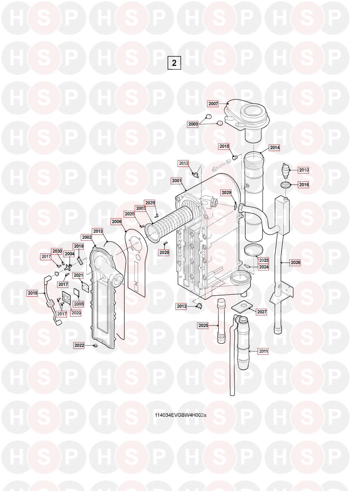 Remeha-Broag Quinta 115 (BURNER HEAT EXCHANGER) Diagram