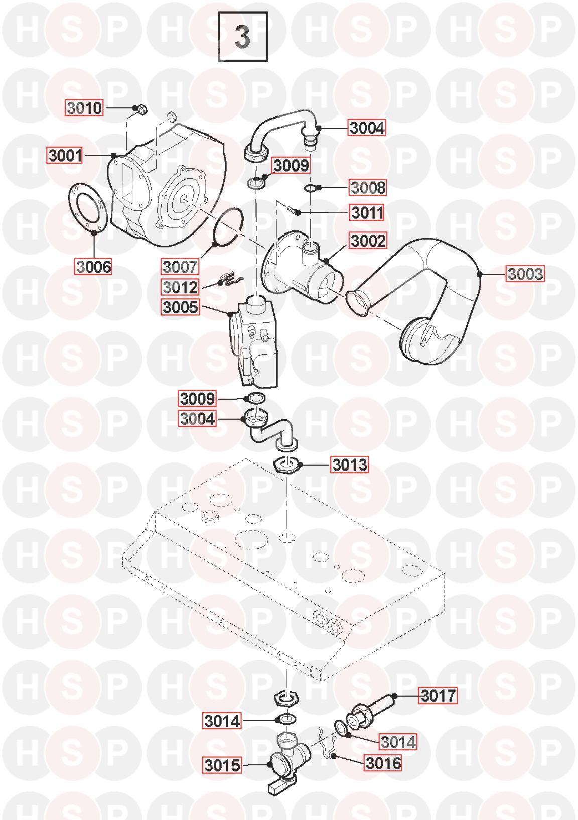 Remeha-Broag Avanta Plus System 30S (FAN ASSEMBLY) Diagram