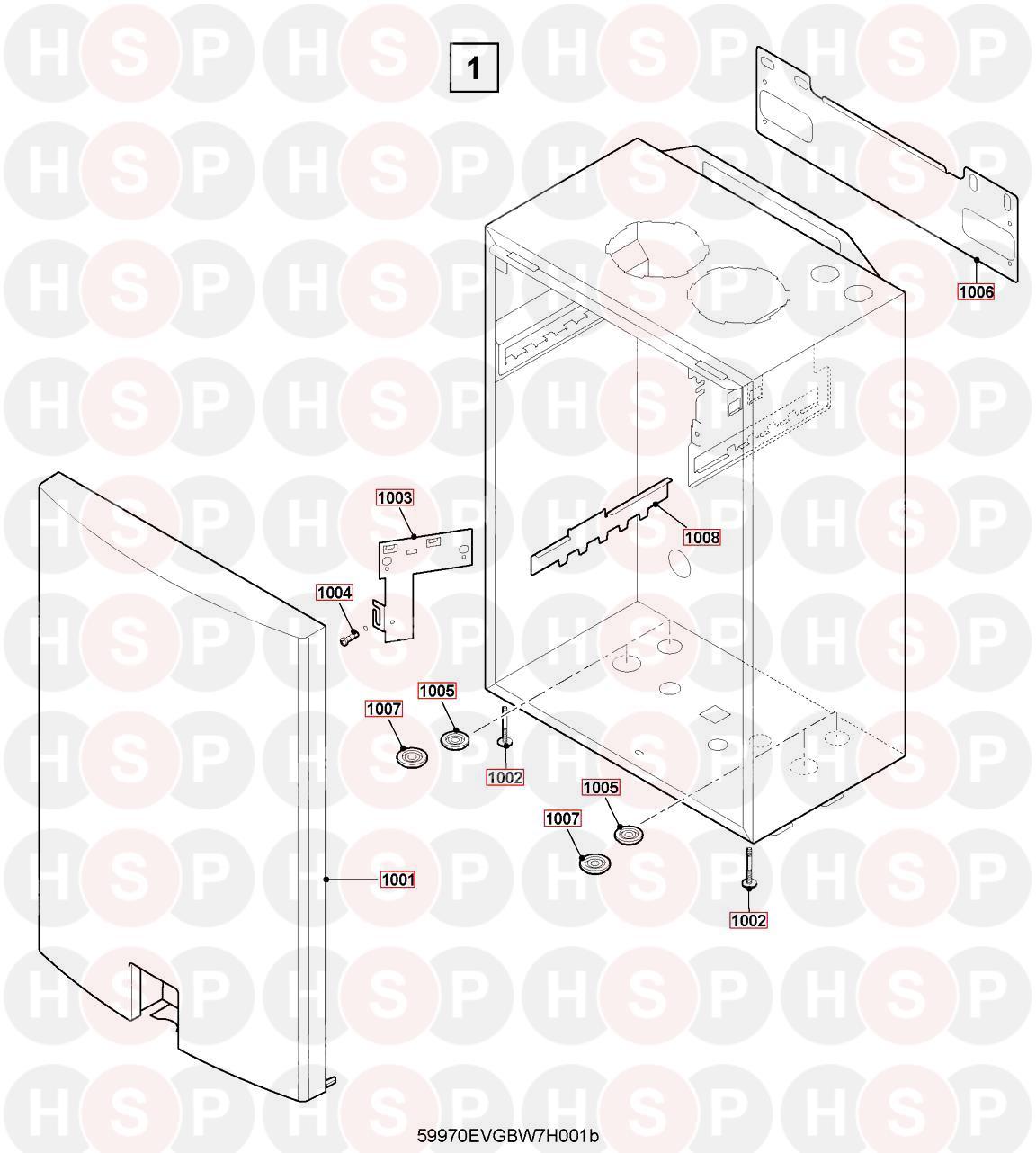 Remeha Avanta Plus Heat Only 18V Appliance Diagram (CASING