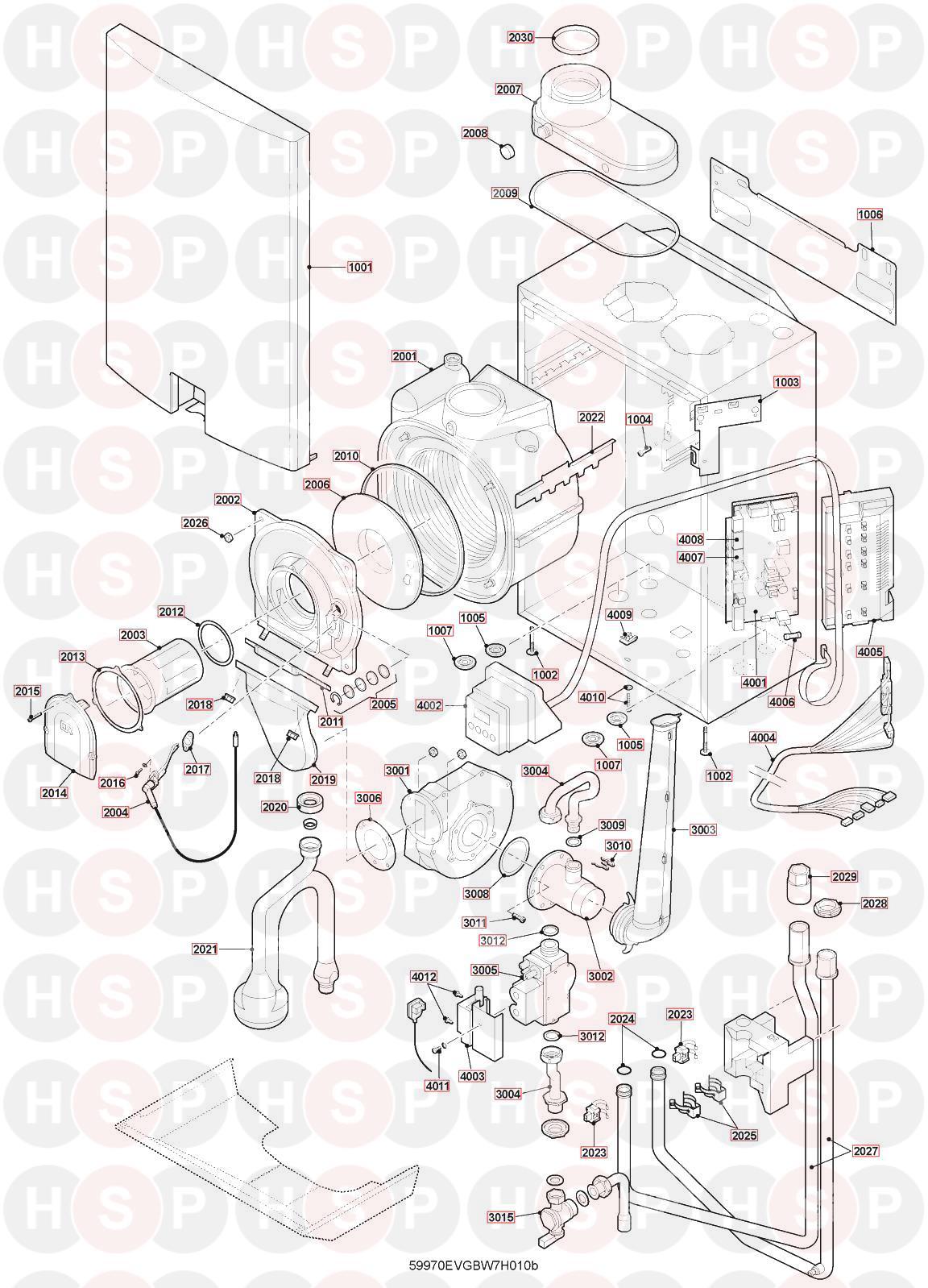 Remeha Avanta Plus Heat Only 15V Appliance Diagram