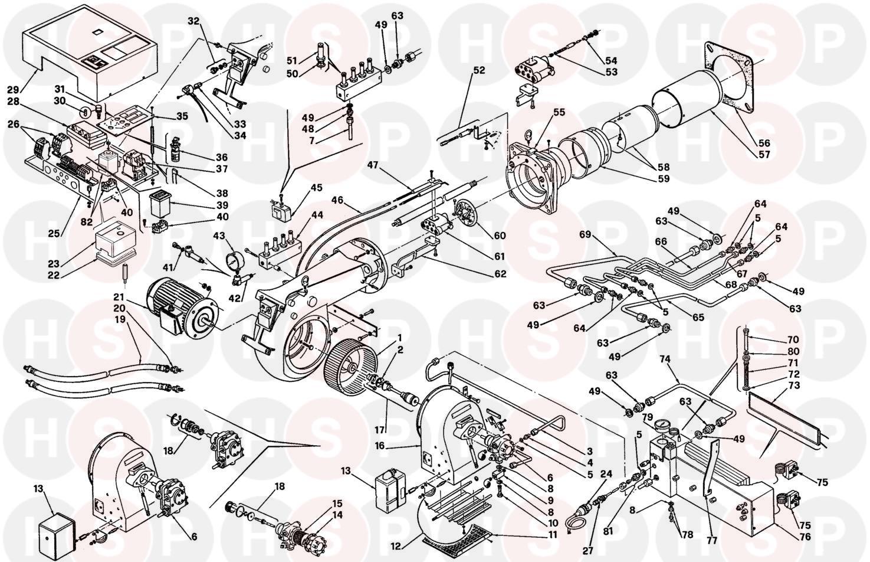 Riello RIELLO BURNER PRESS 450T/N TC Appliance Diagram
