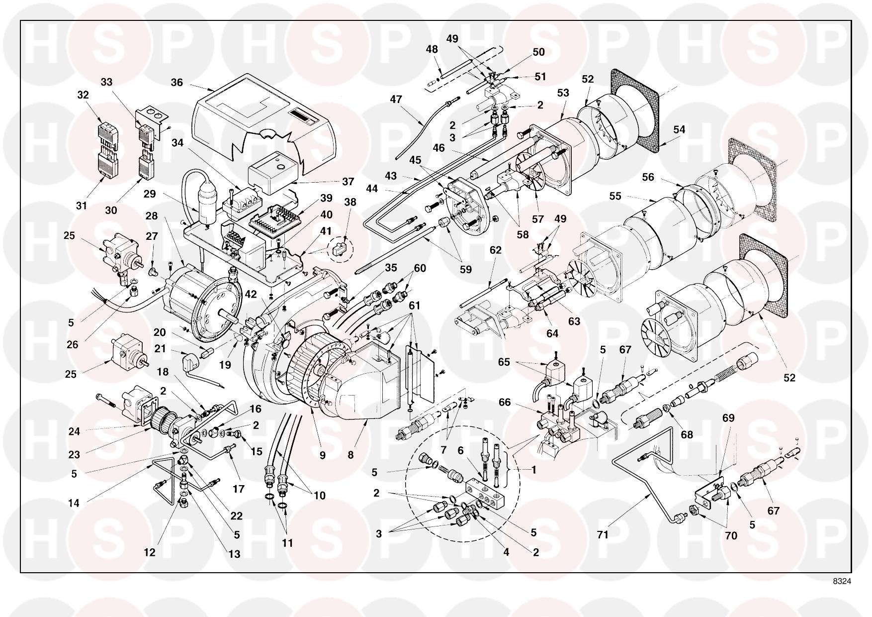 riello press gw 3473784  type 605 t80   burner diagram  diagram