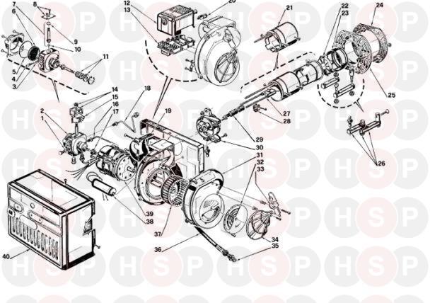 Riello RIELLO BURNER 40 G5 TL Appliance Diagram (RIELLO