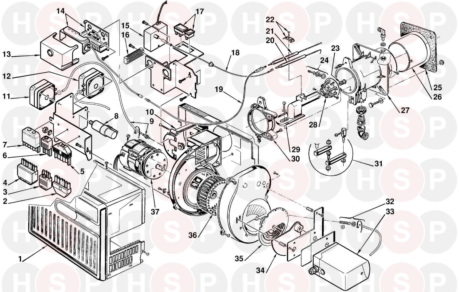 Riello RIELLO BURNER 40 GS10/M Appliance Diagram (RIELLO