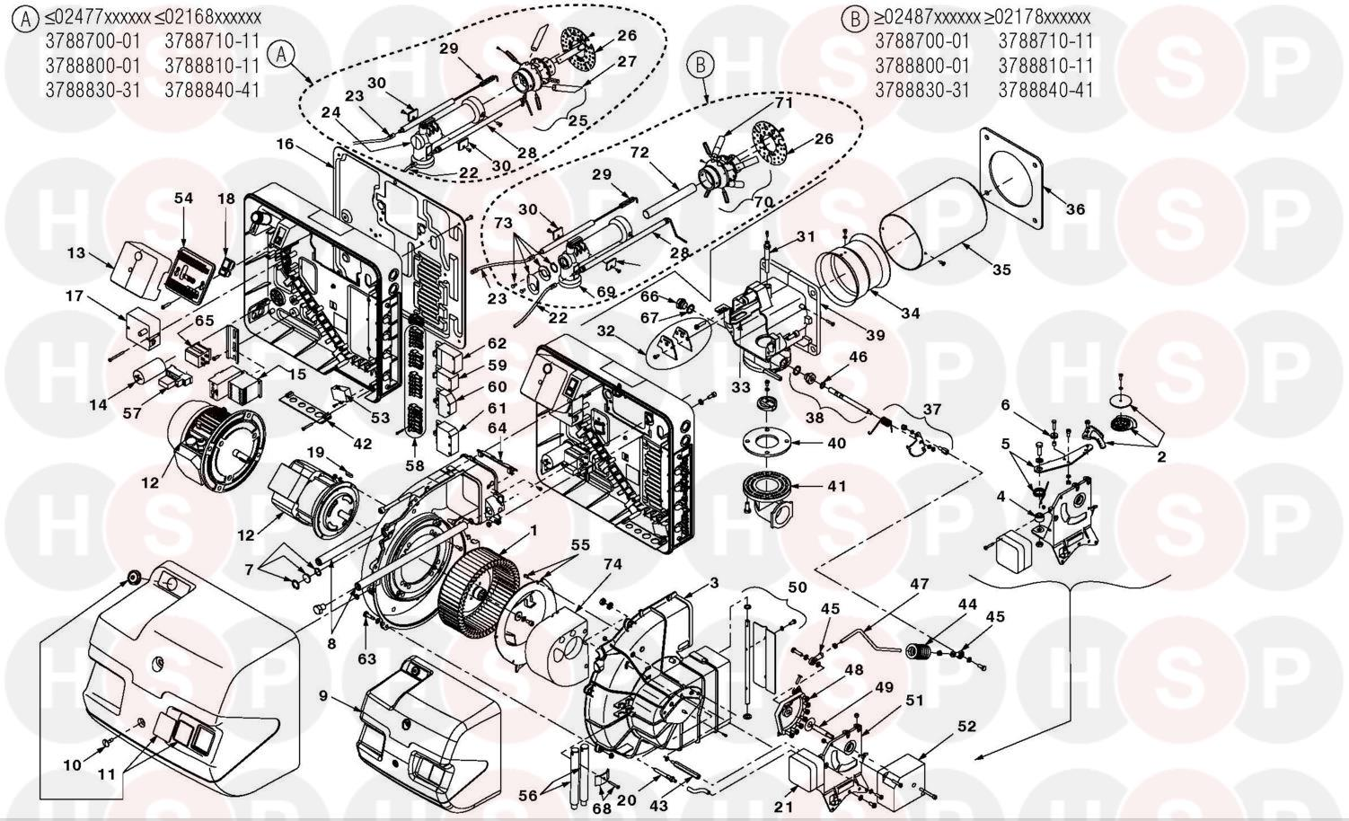 Riello RS 44/M MZ TL 3P (RIELLO BURNER RS 44/M MZ TL 3P