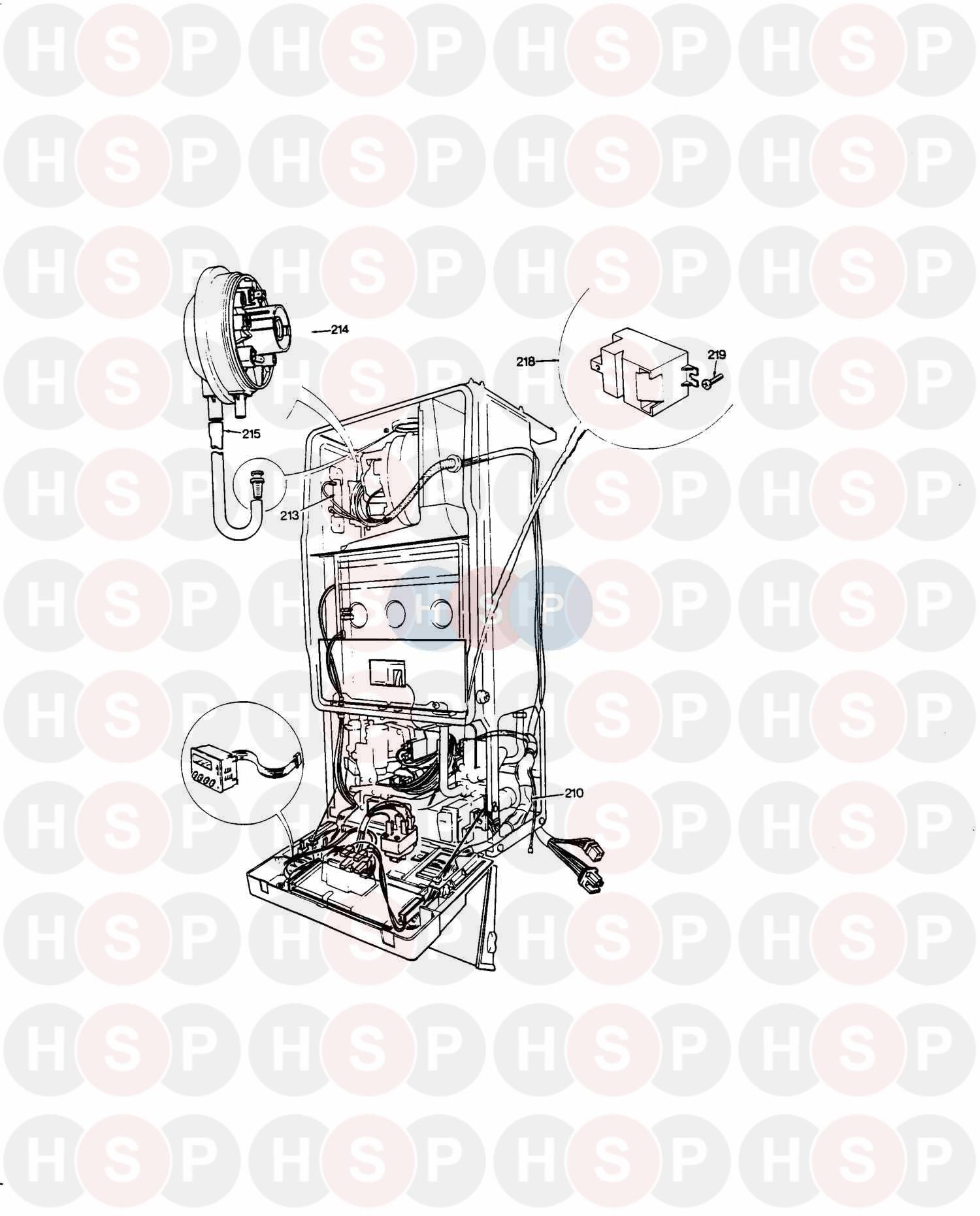 saunier duval thelia 623  air pressure switch  diagram