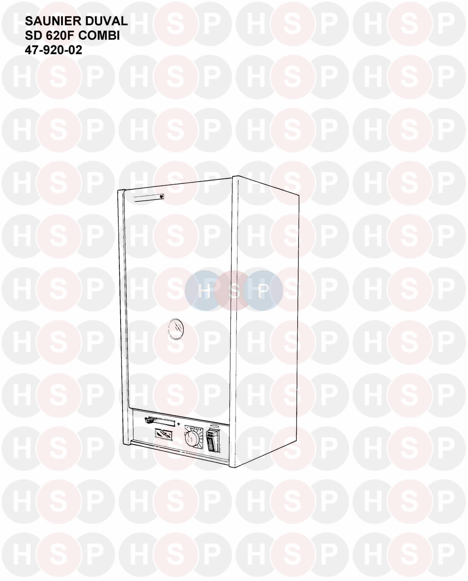 Saunier Duval SD 620F COMBI Appliance Diagram (APPLIANCE
