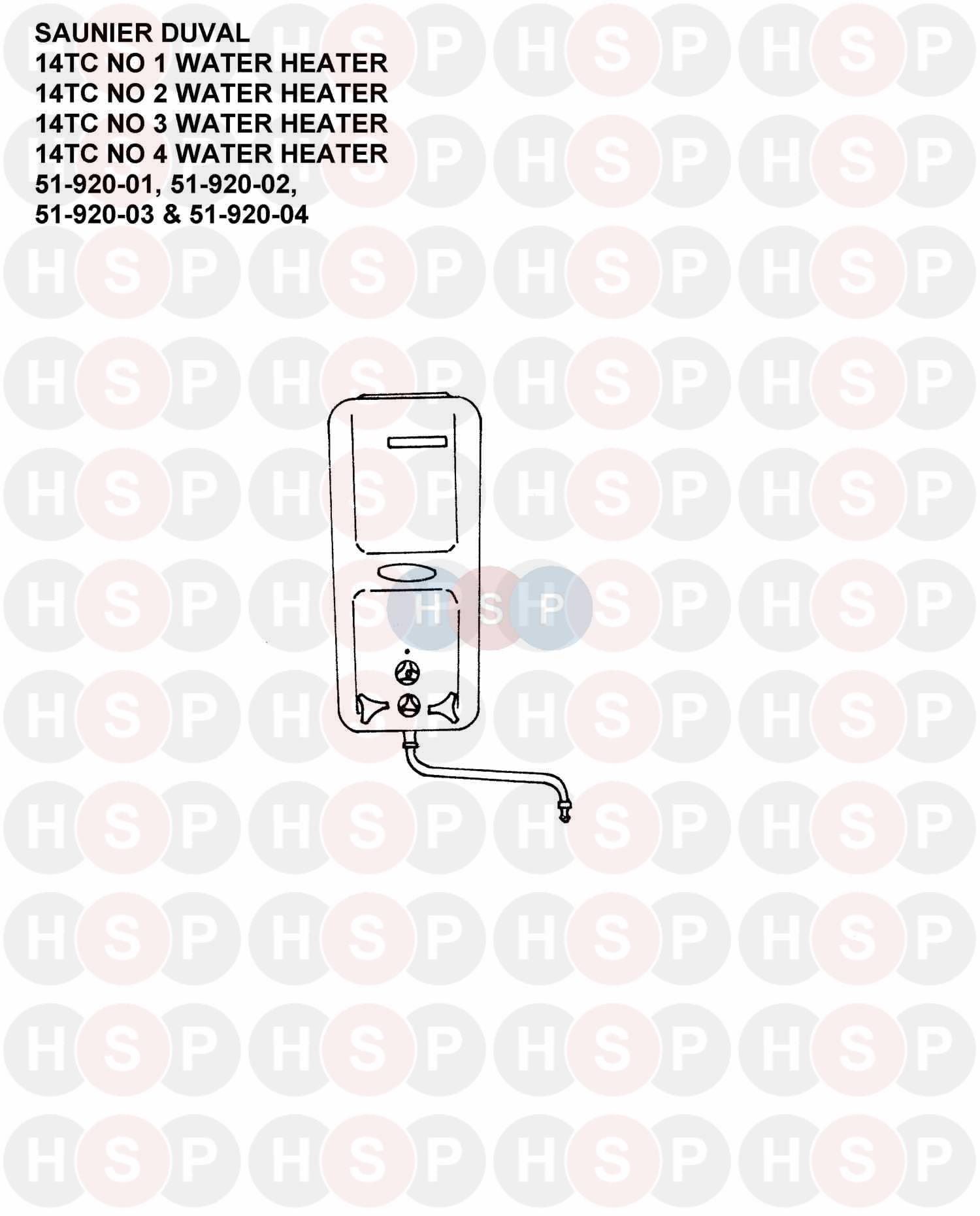Saunier Duval 14TC NO 1 WATER HEATER (APPLIANCE OVERVIEW