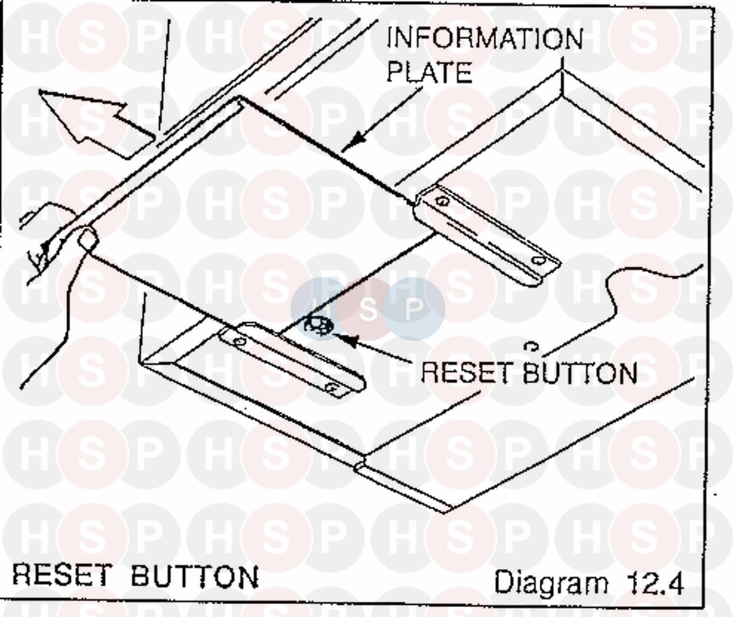 Saunier Duval SYSTEM 400.80 (Reset Button) Diagram