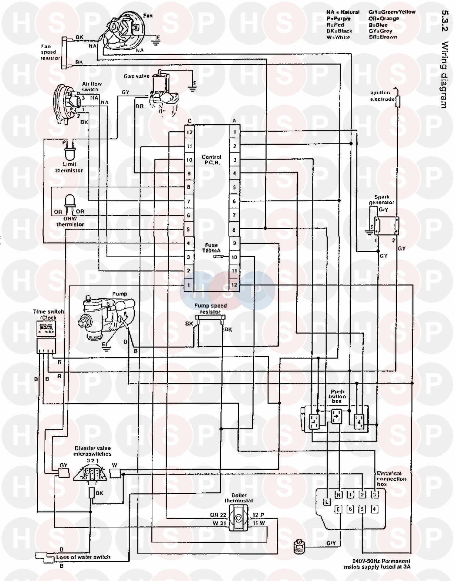 Saunier Duval Sd 623 Combi  Wiring Diagram  Diagram
