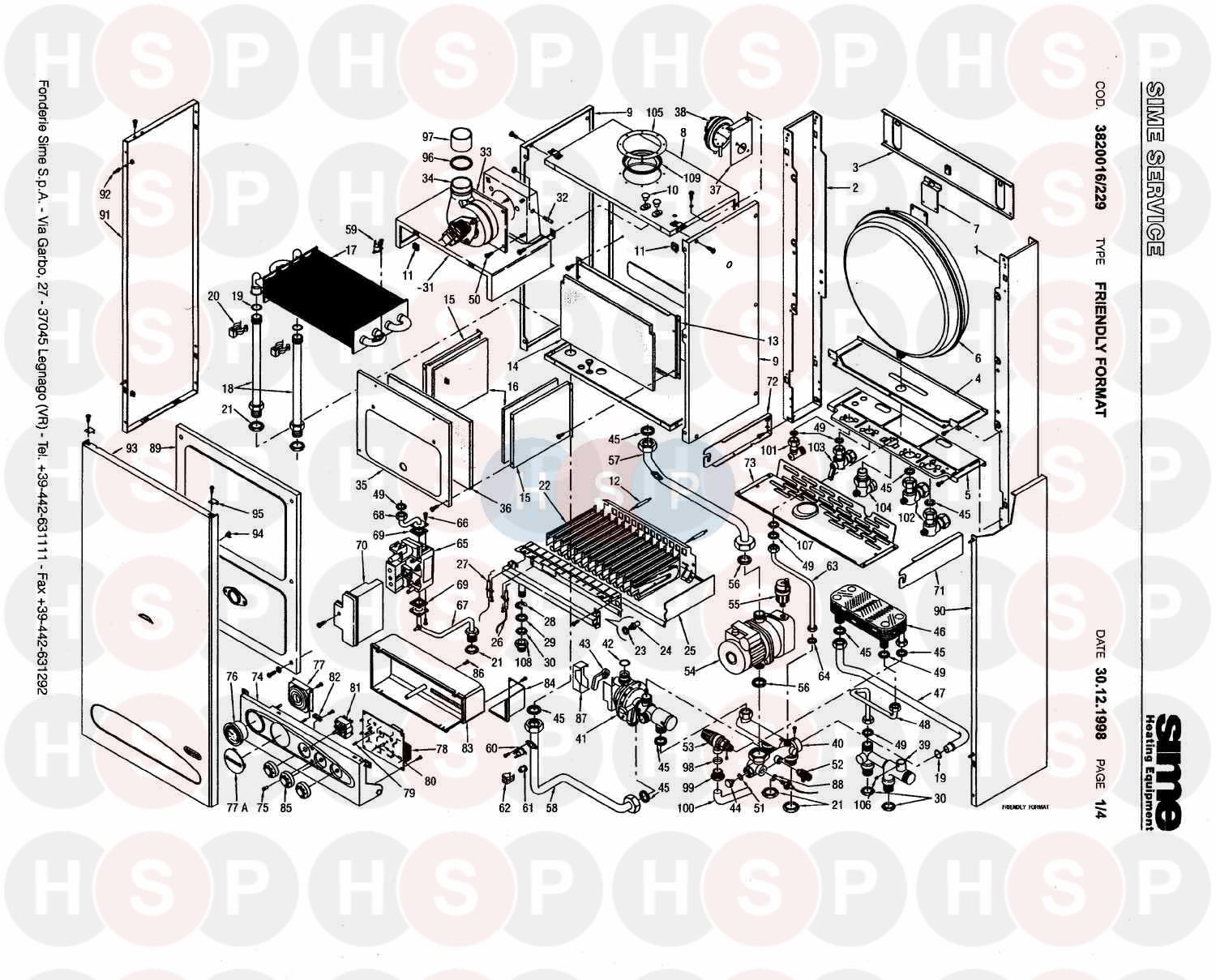 Awe Inspiring Sime Friendly Format 80 Boiler Assembly Diagram Heating Spare Parts Wiring 101 Kniepimsautoservicenl