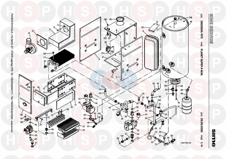 Sime planet super 4 wm boiler asembly diagram heating spare parts boiler asembly diagram for sime planet super 4 wm swarovskicordoba Choice Image