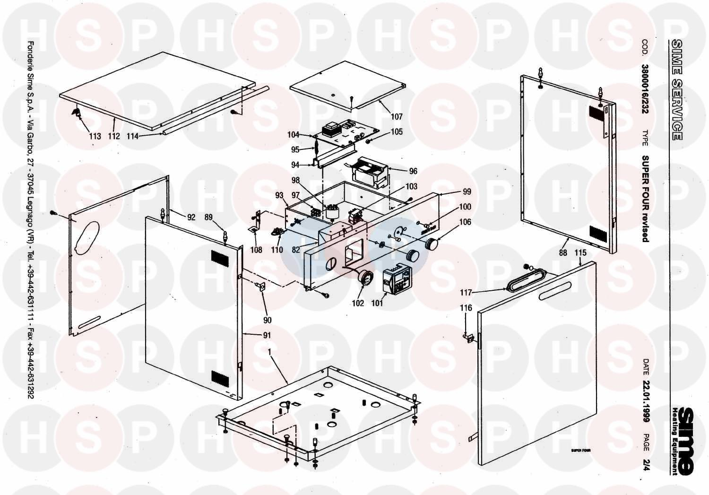 sime super four revised appliance diagram  casing