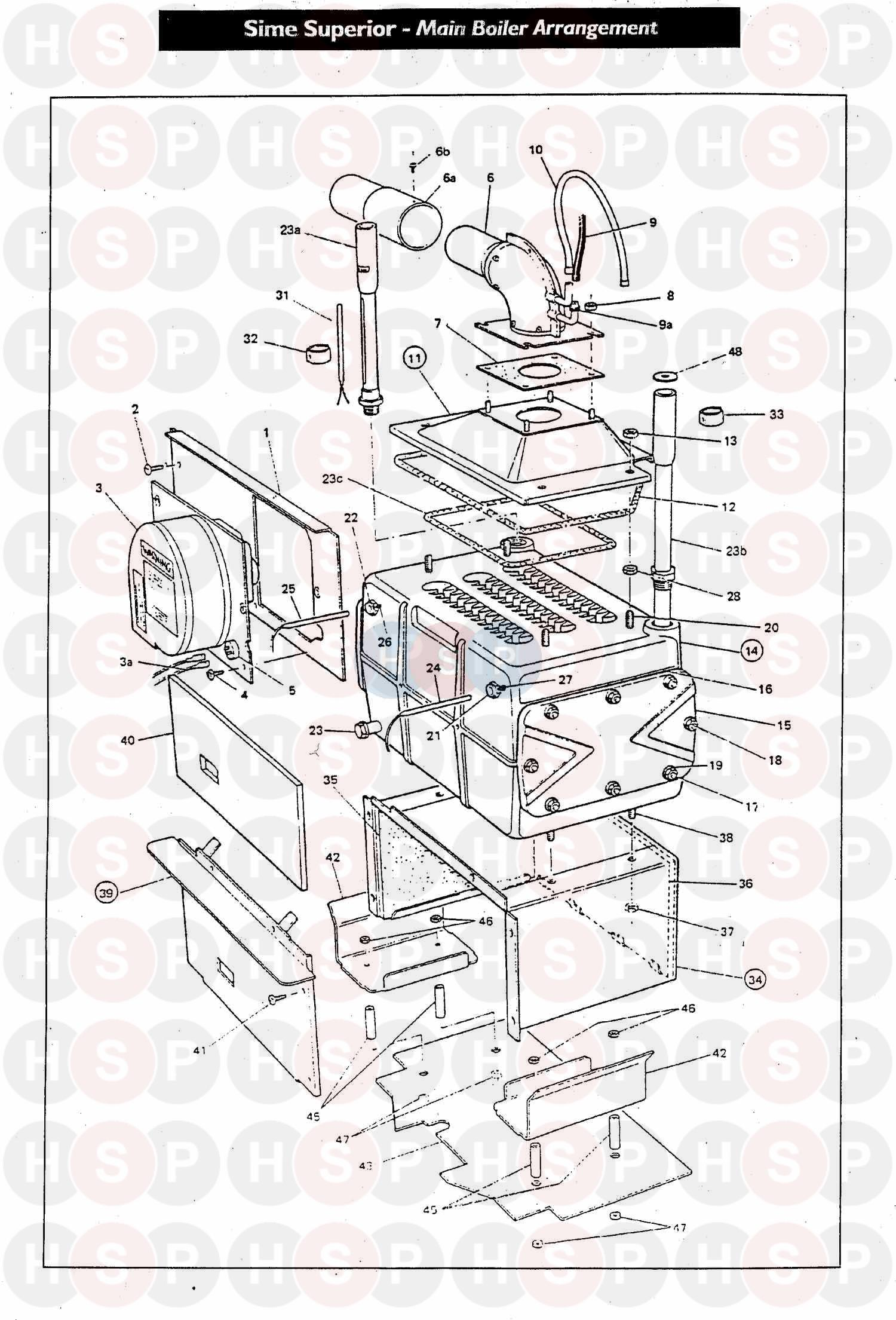 Peachy Sime Superior Mki 60 Assembly 1 Diagram Heating Spare Parts Wiring 101 Kniepimsautoservicenl