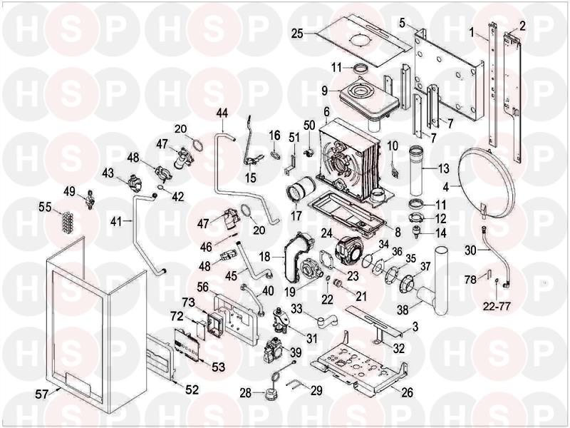 Sime Format Dgt 30 He Exploded View Diagram Heating Spare Parts