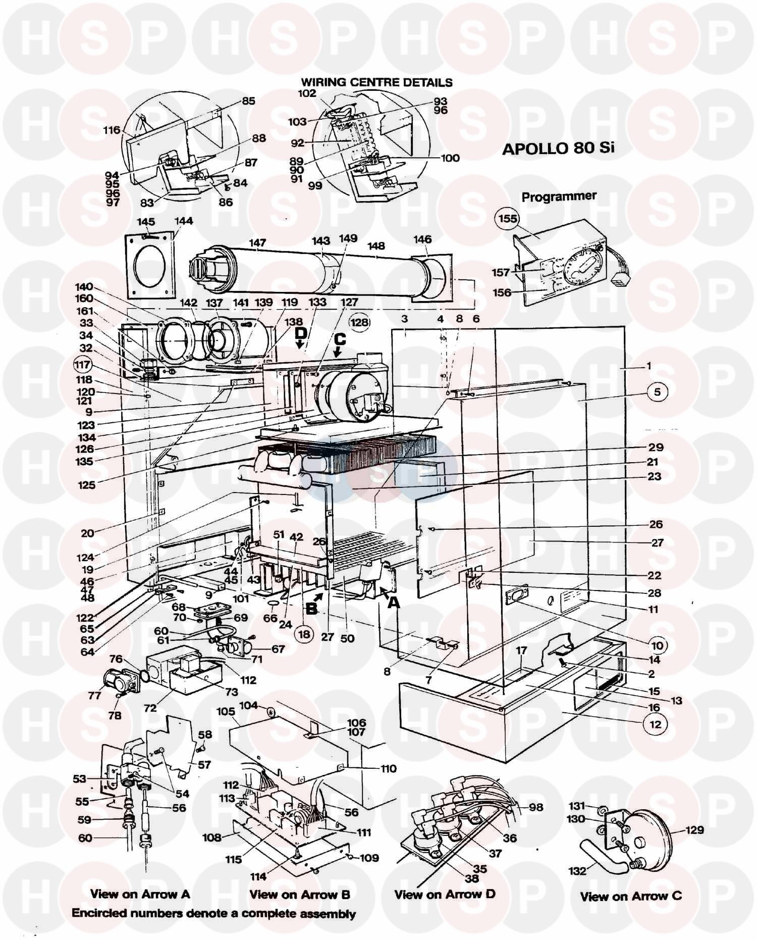 Thorn APOLLO (LATER) 60 SI 1997 (EXPLODED VIEW) Diagram