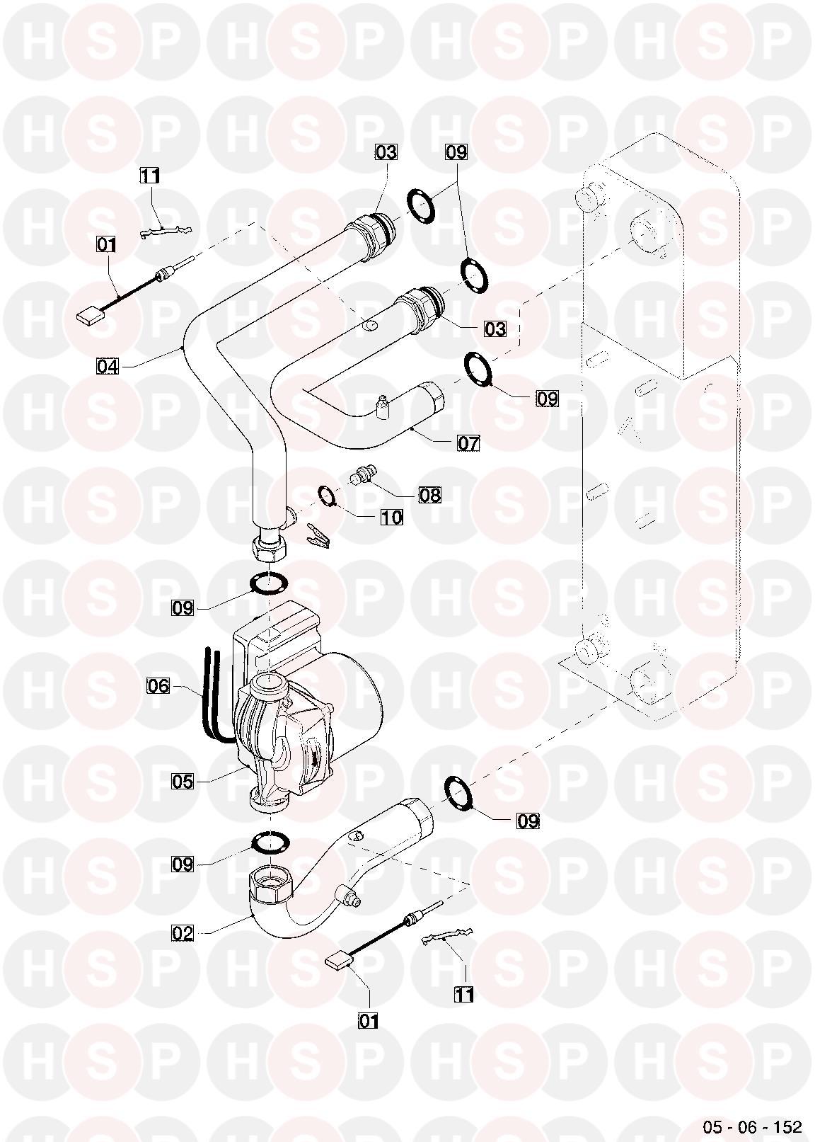Vaillant VWL 55/2 A 230V 2014 Onwards Appliance Diagram