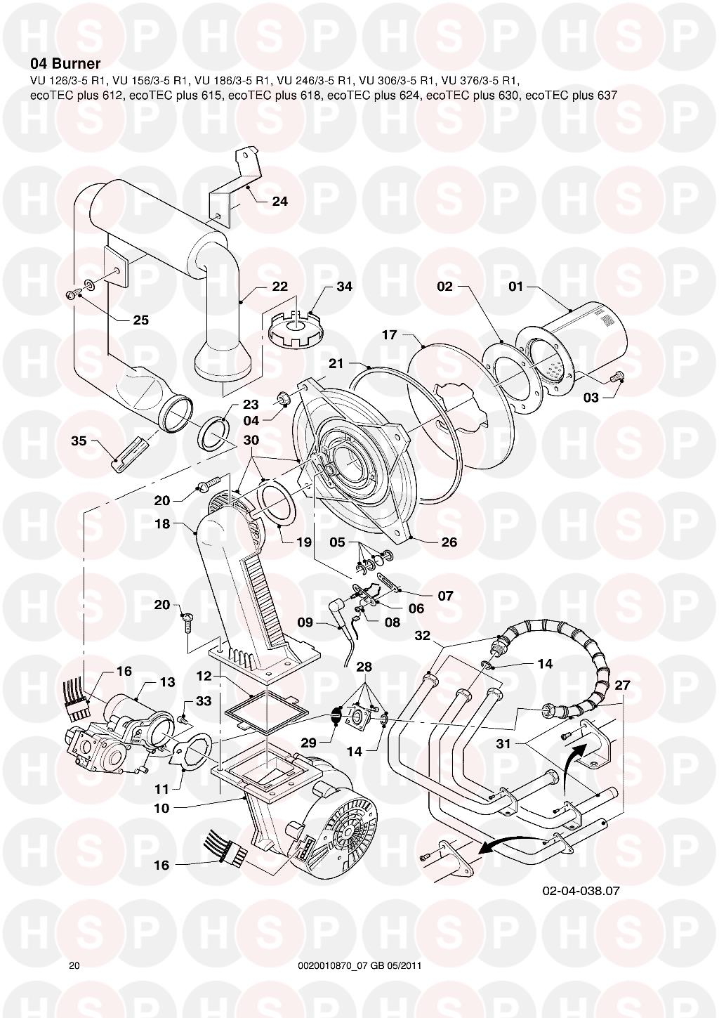 Vaillant ecotec plus 637 vu 3763 5 r1 2006 2012 appliance diagram click the diagram to open it on a new page asfbconference2016 Images