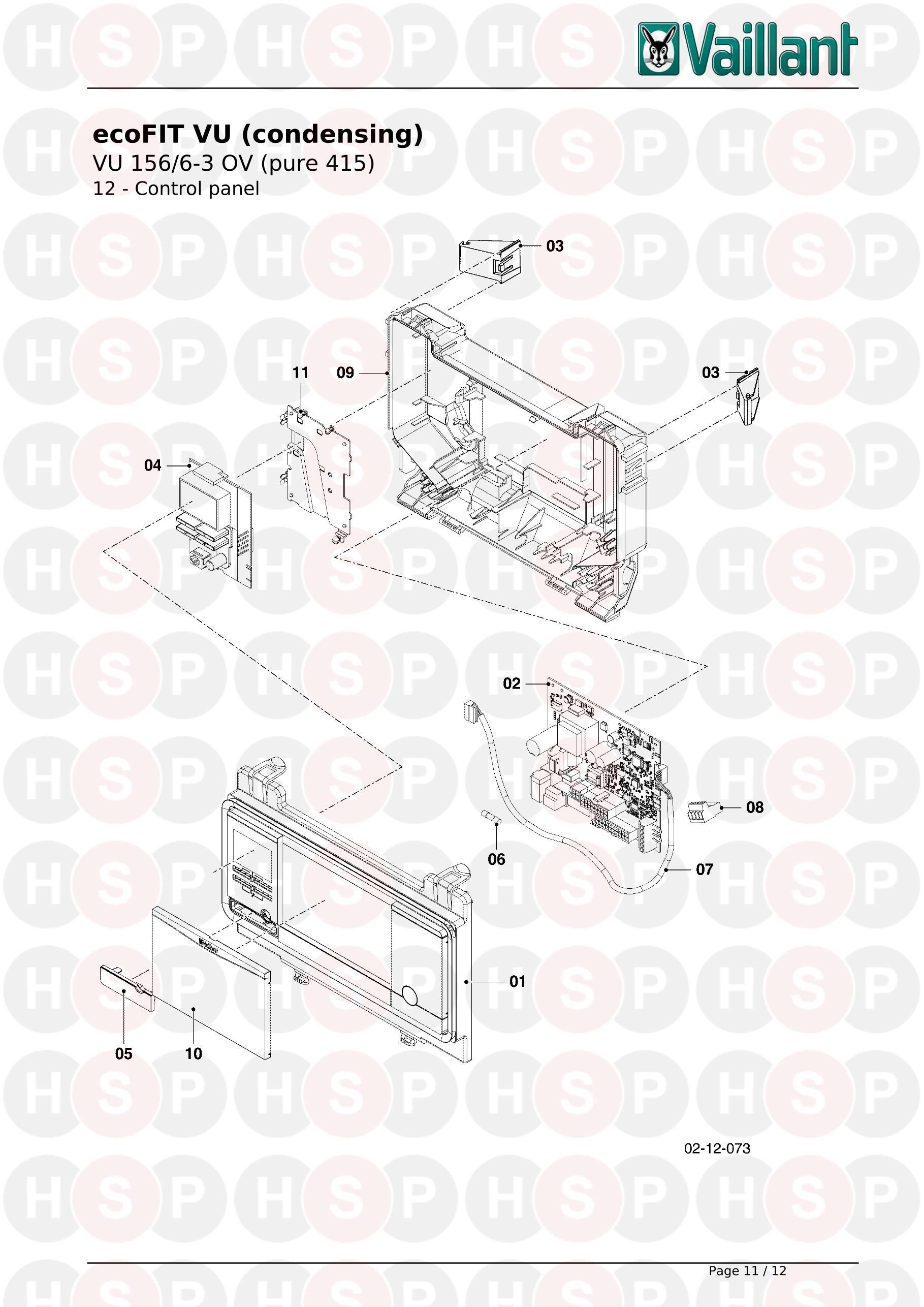 Vaillant ECOFIT PURE 415 VU 156/6-3 OV (H-GB) (12 CONTROL