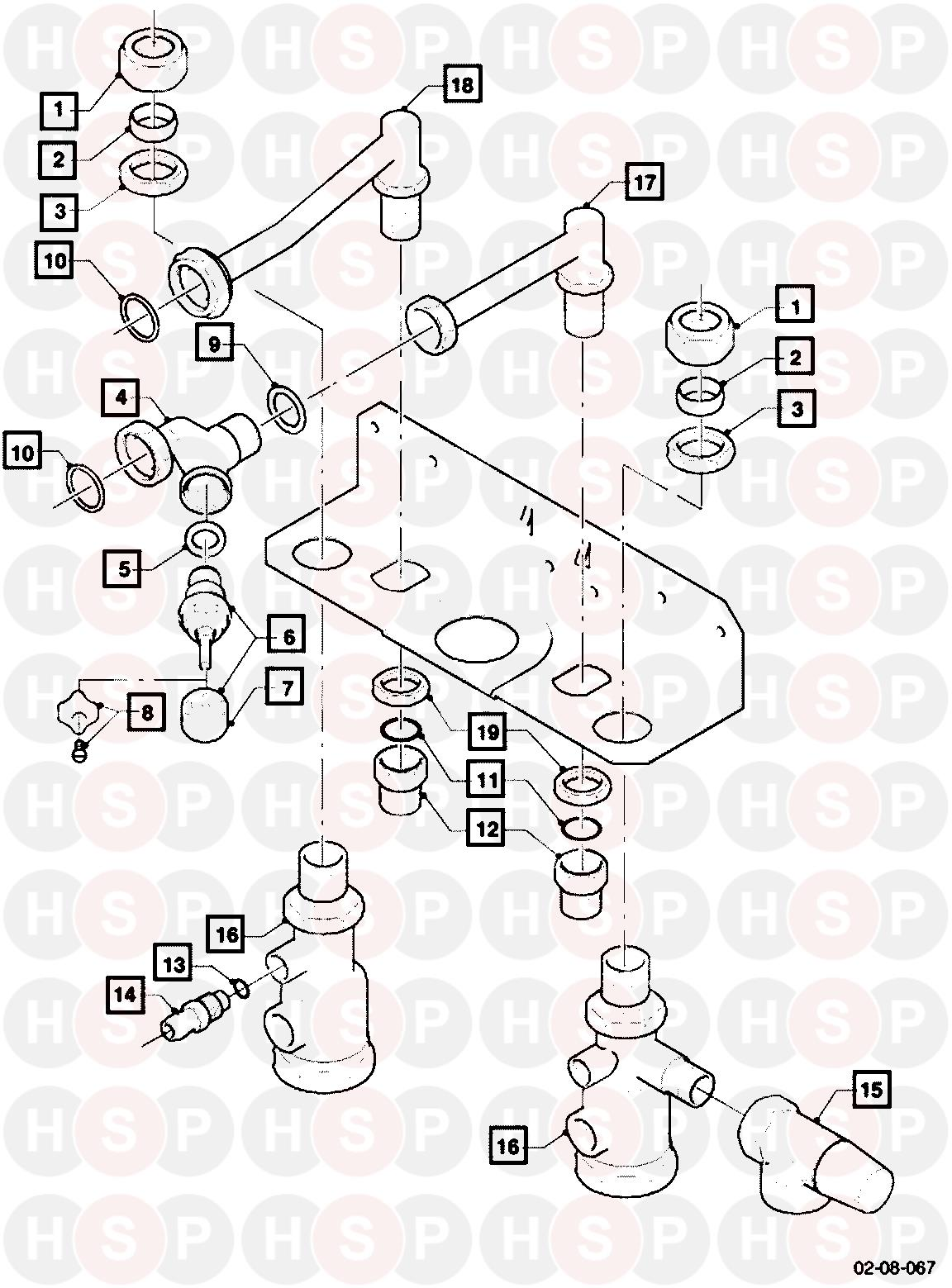 Vaillant VCW 20/1 T3 WH (ACC CONNECTION PARTS) Diagram