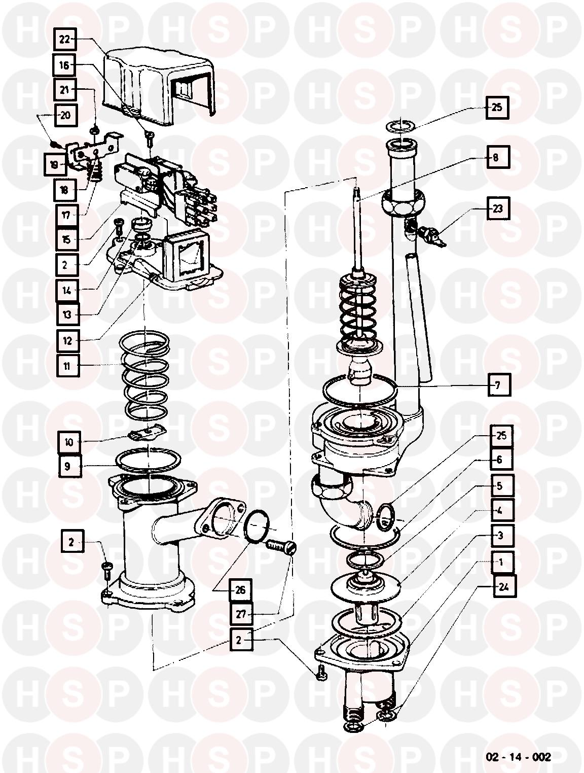 Vaillant VCW SINE 18 T3 WFH (DIVERTER VALVE) Diagram