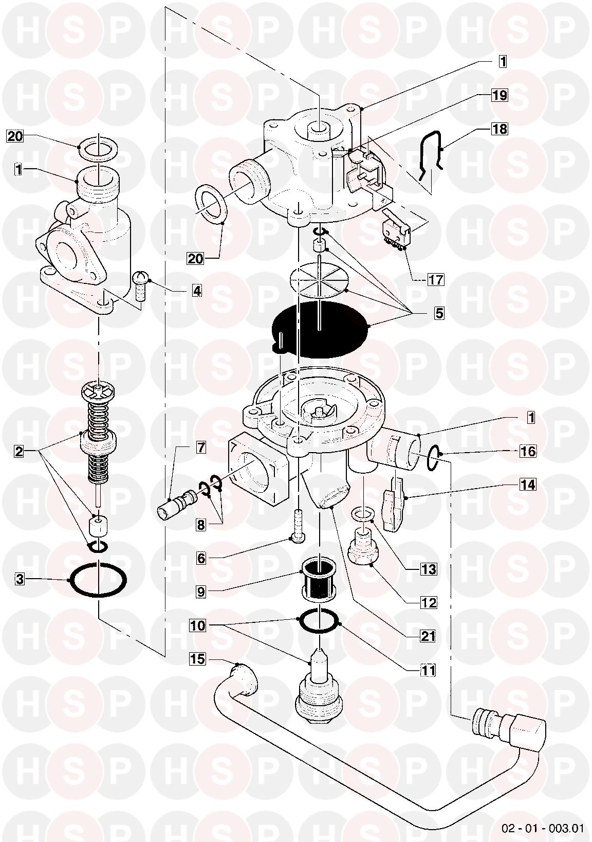 Vaillant TURBOMAX VUW 282E 1995-1999 Appliance Diagram (01