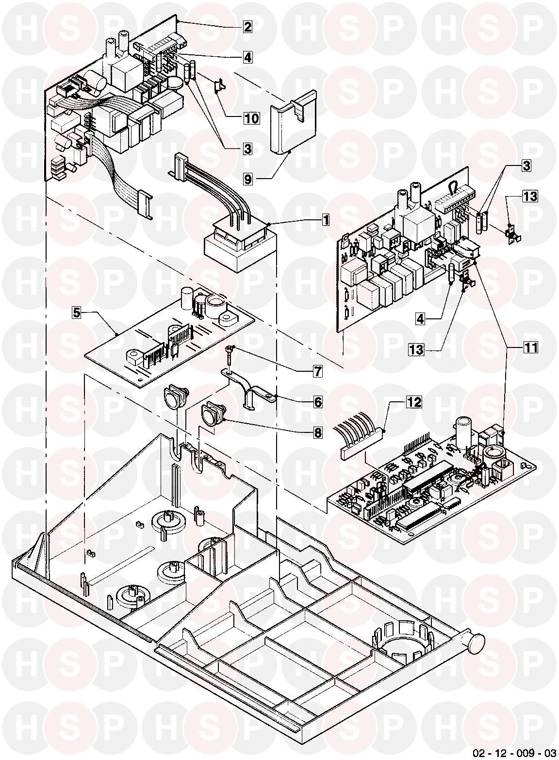 Vaillant TURBOMAX VUW 282/1E 1998-2001 (12A CONTROL BOX