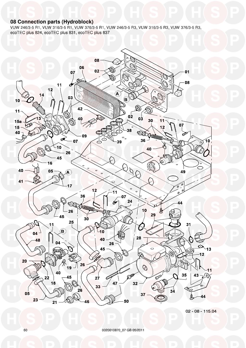 Vaillant ecotec plus 831 vuw 3163 5 2005 2013 08 connection parts 08 connection parts hydroblock diagram for vaillant ecotec plus 831 vuw 3163 cheapraybanclubmaster Image collections