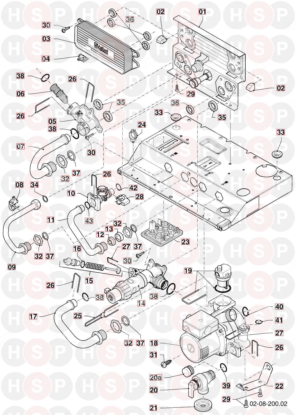 Vaillant ECOTEC PLUS 824 VUW 246/5-5 R1 2012-2013 (08A