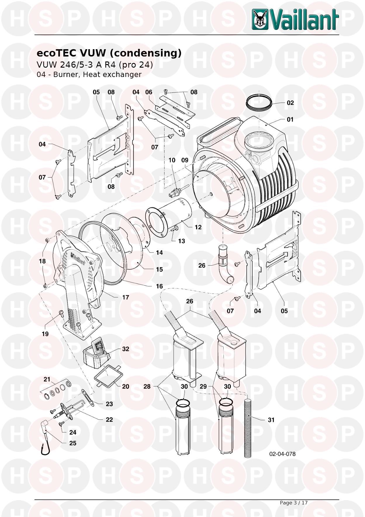 Vaillant ECOTEC PRO 24 VUW 246/5-3 R4 (current production