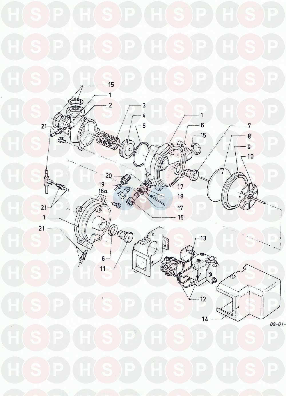 Vaillant Combi Compact Ff Vcw 282 E 1988 1995 01d Diverter Valve Schematic Diagram For