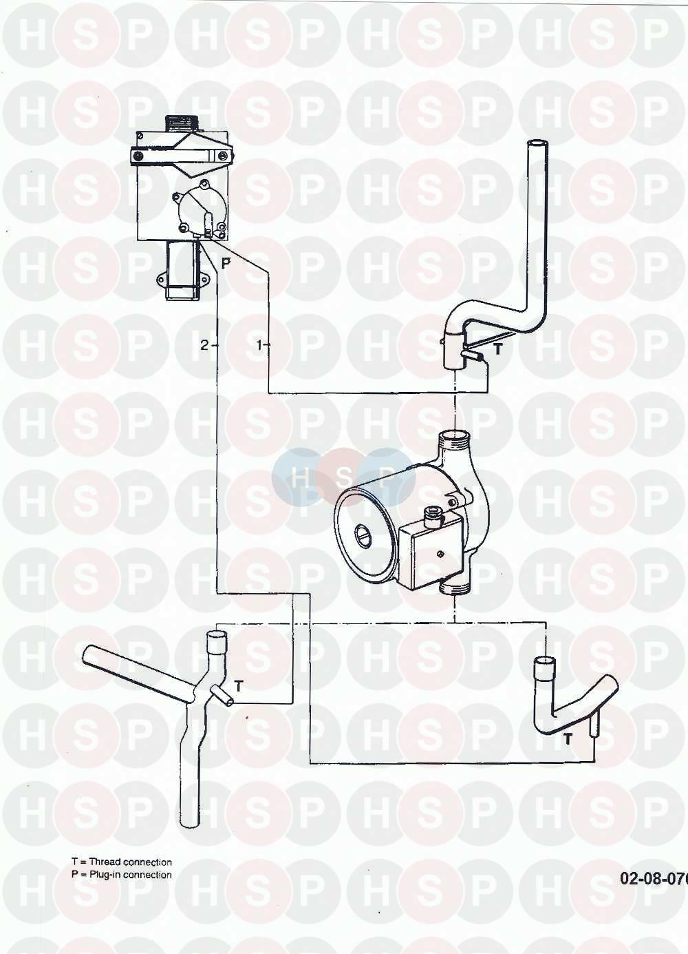 Vaillant THERMOCOMPACT FF VC GB 242 E (08a Connection