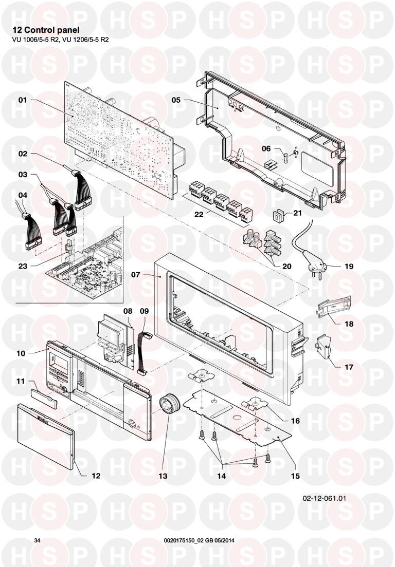 Vaillant ecoTEC PLUS VU GB 1206/5-5 (12 CONTROL PANEL VU