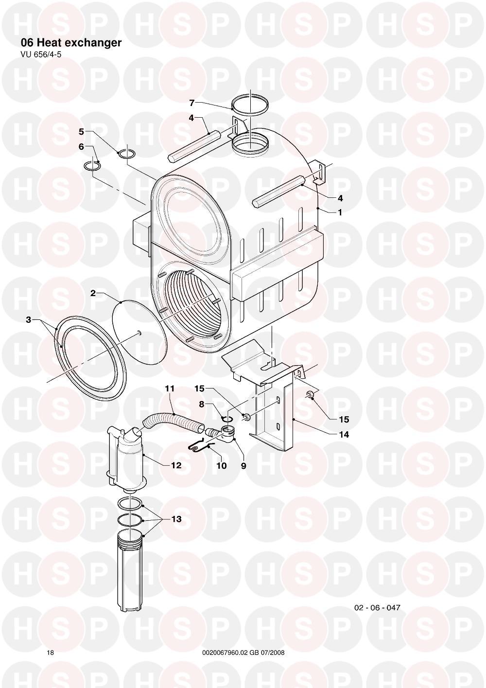 Vaillant ecoTEC VU 656/4-5 (06 Heat exchanger) Diagram