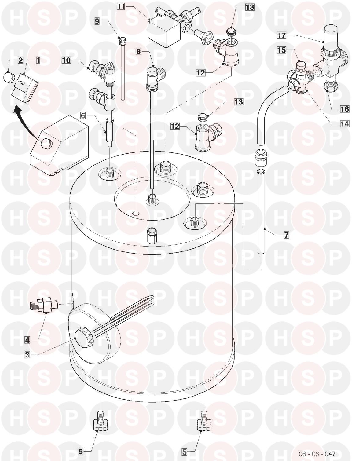 Vaillant VIH CR 150/4 1999-2003 (305806) (EXPLODED VIEW