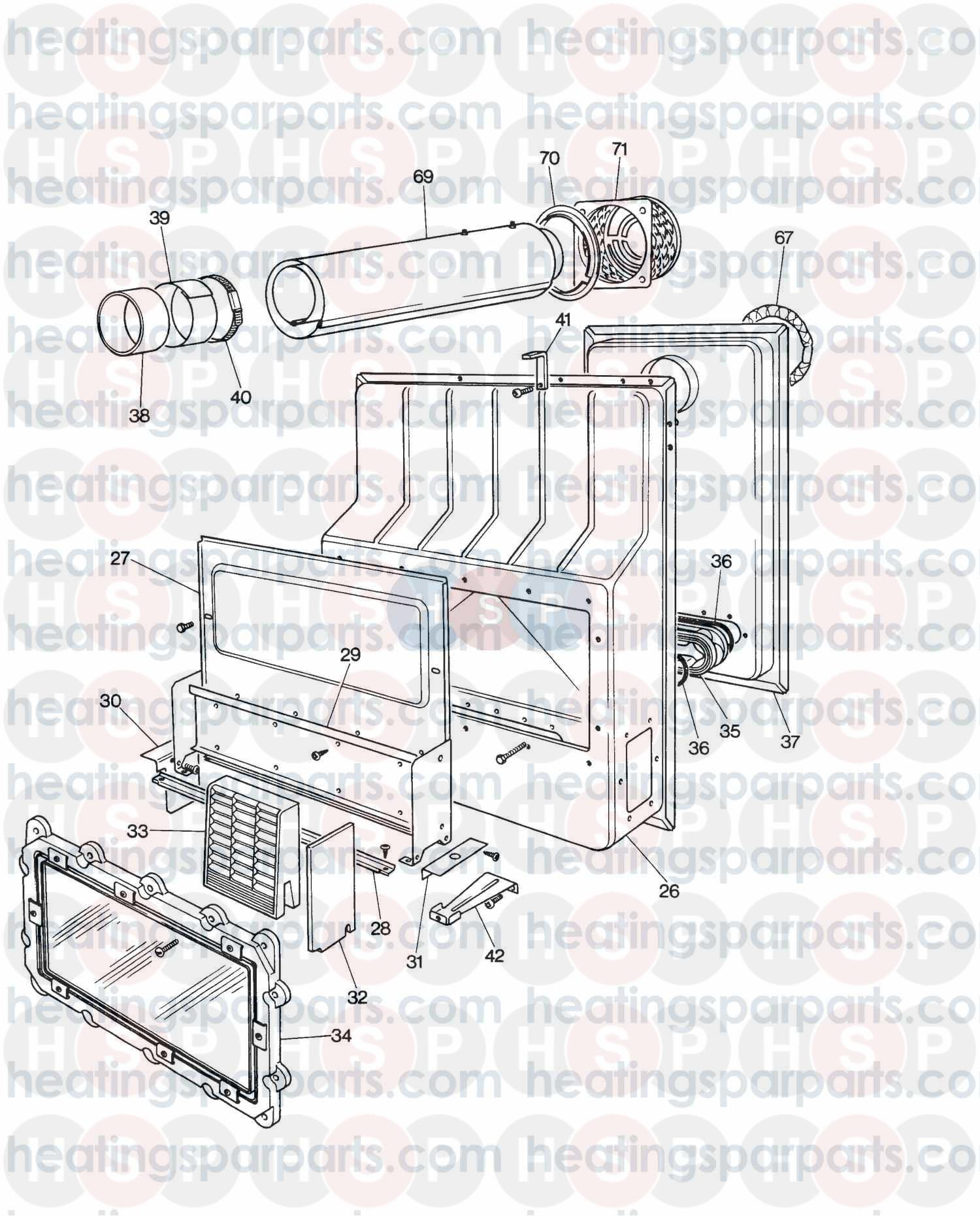 Valor Gas Fire Unigas Deluxe Bf Assembly 1 Diagram