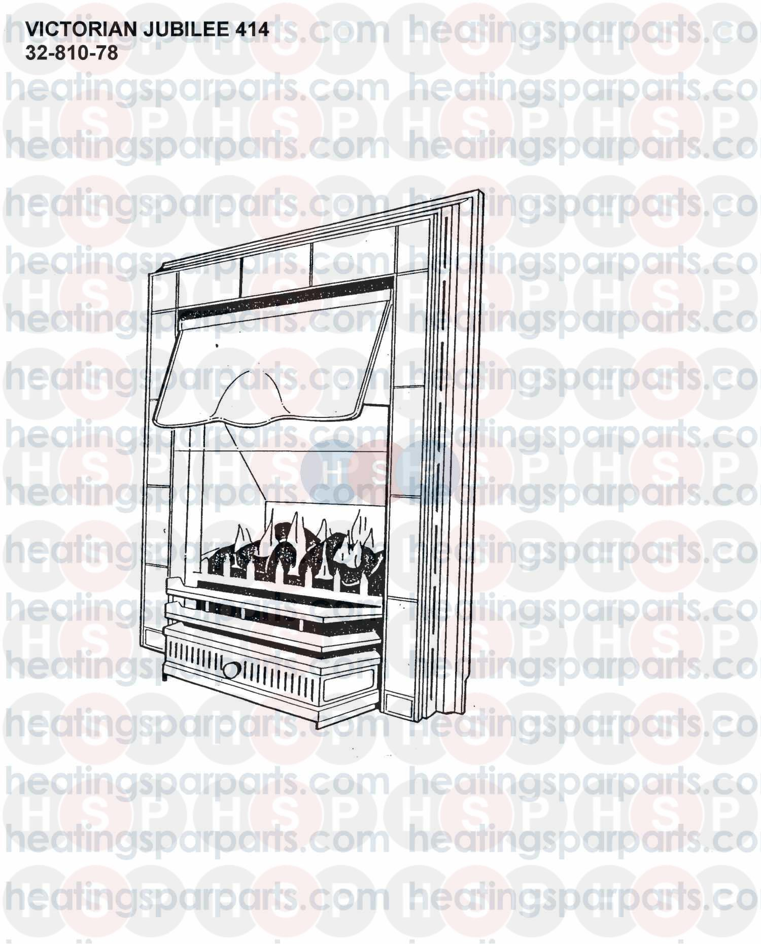 Valor Gas Fire VICTORIAN JUBILEE 414 (APPLIANCE OVERVIEW