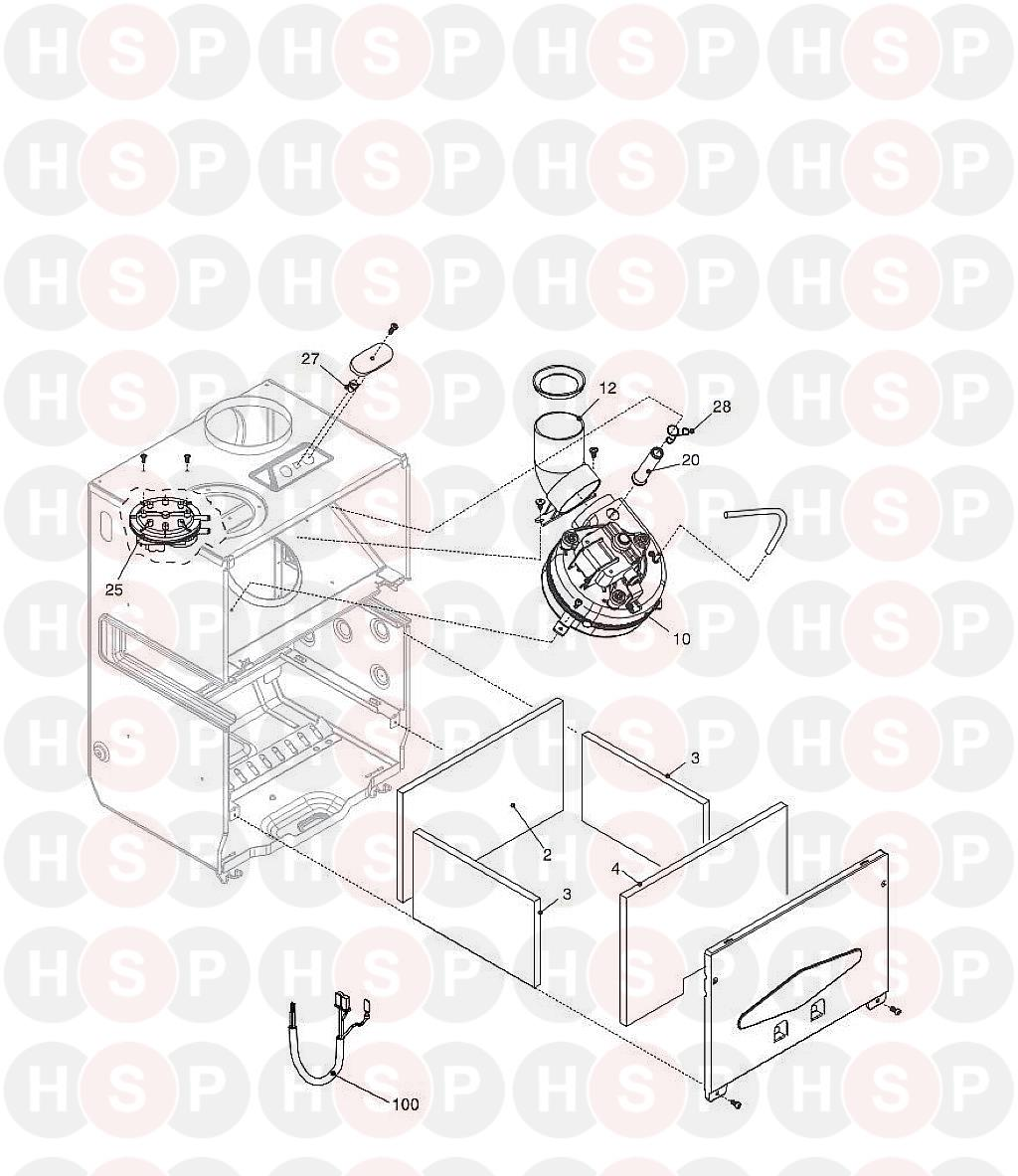 vokera compact 28 fan diagram heating spare parts. Black Bedroom Furniture Sets. Home Design Ideas
