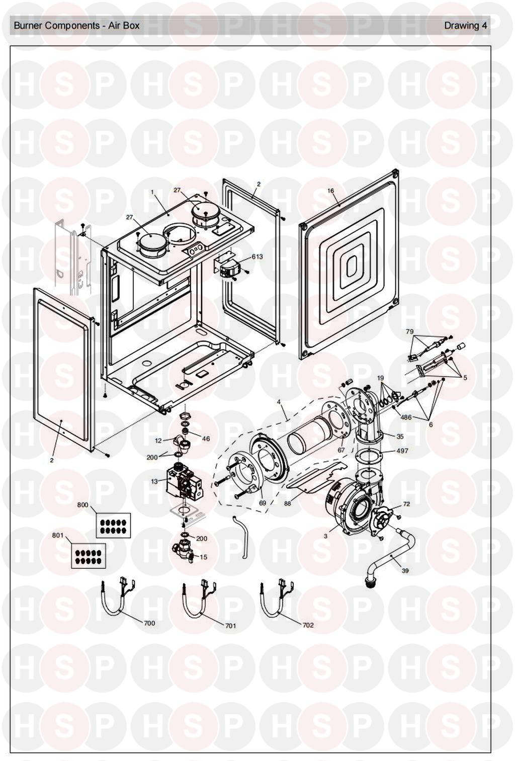 vokera mynute 30 he system  burner  diagram