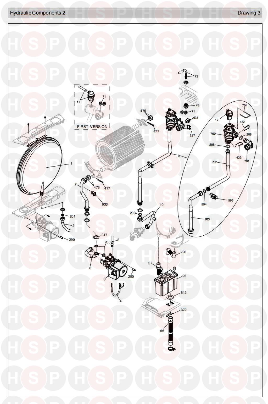 Vokera MYNUTE 30 HE SYSTEM (HYDRAULICS 2) Diagram