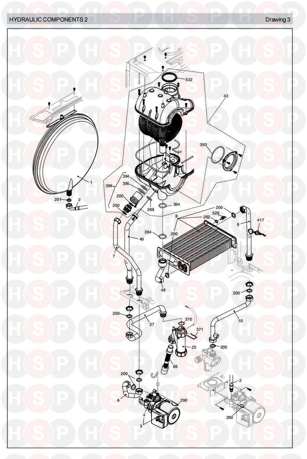 Vokera Sabre 25 He Hydraulics 2 Diagram Heating Spare Parts Engine Click The To Open It On A New Page
