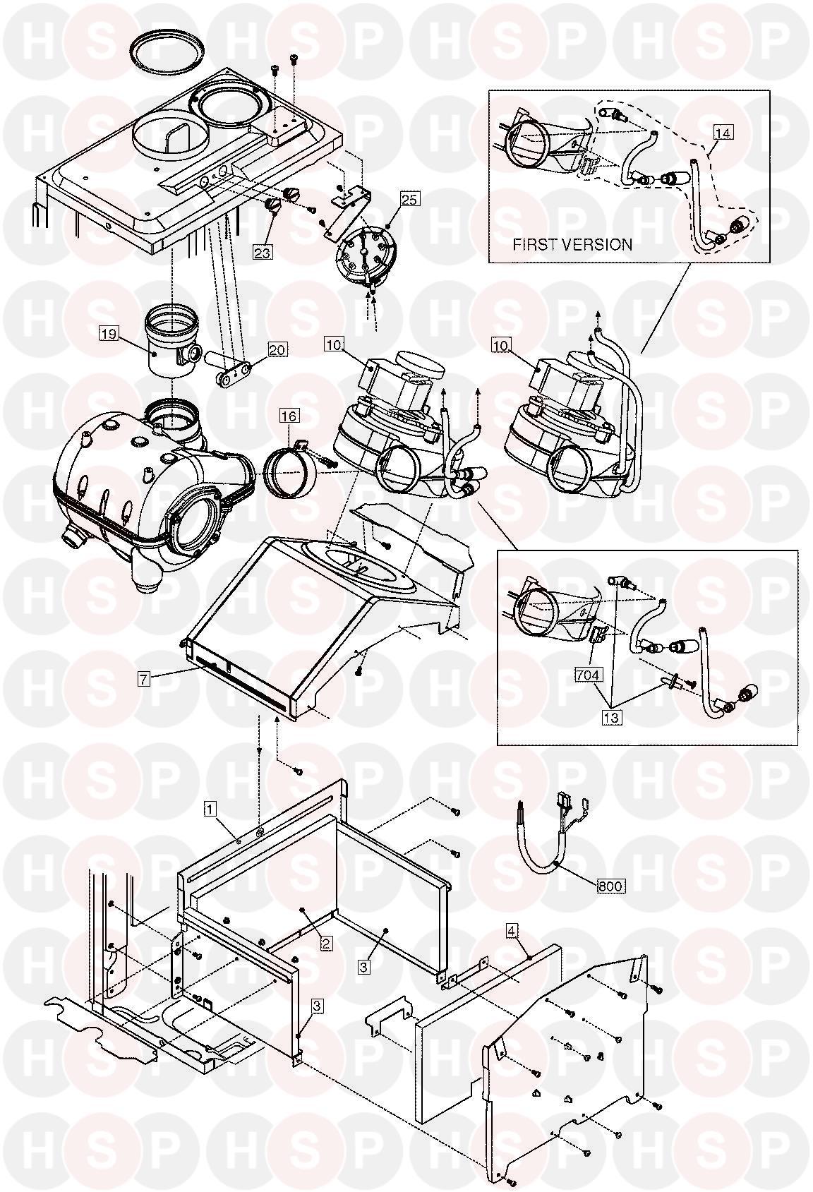 vokera compact 25 he appliance diagram  combustion fan