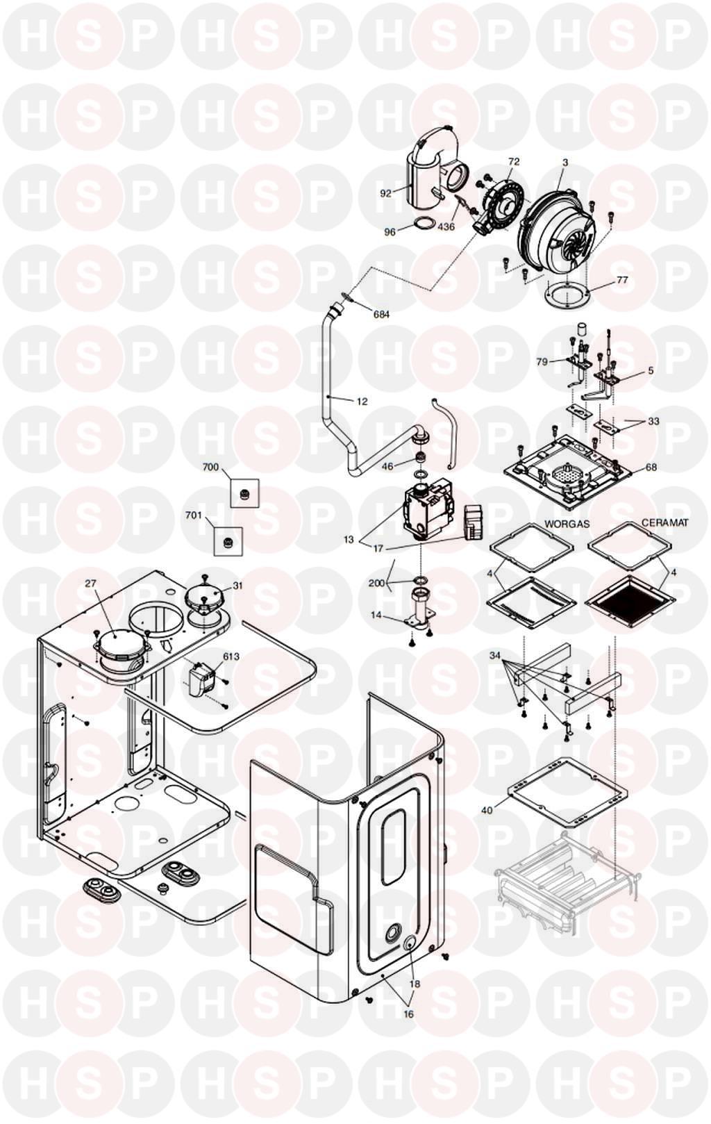 Vokera COMPACT 25 A code 20020831 (BURNER) Diagram