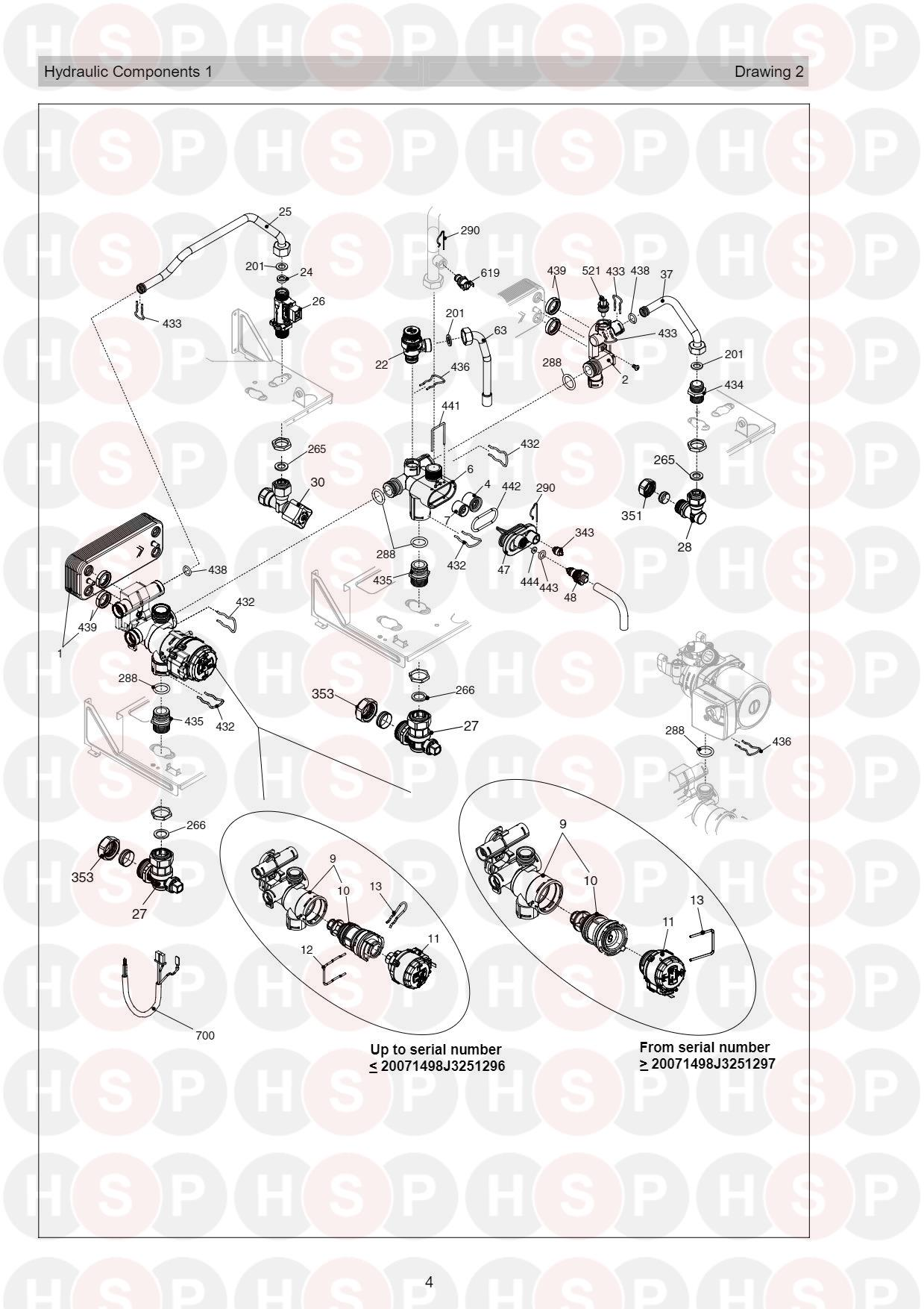 Hydraulics 1 diagram for Vokera Compact 25A Rev 7 (06/2016)