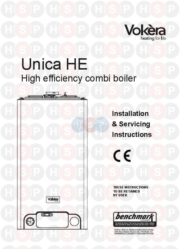 Appliance Overview diagram for Vokera Unica 32 HE