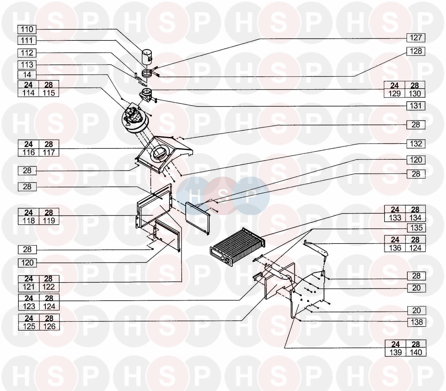 vokera linea 28e  assembly 8  diagram