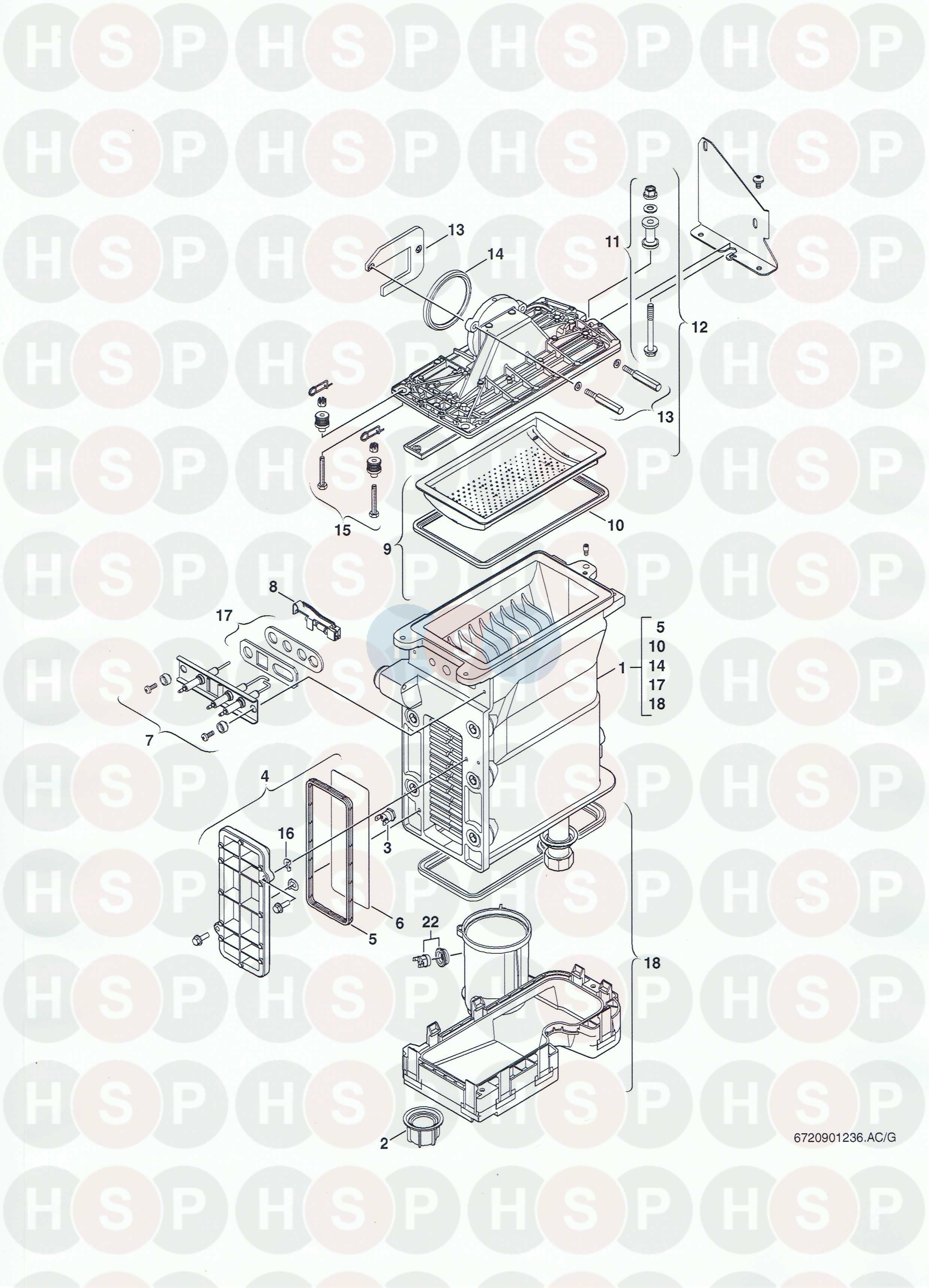 Worcester GREENSTAR 25 HE COMBI Appliance Diagram (BURNER