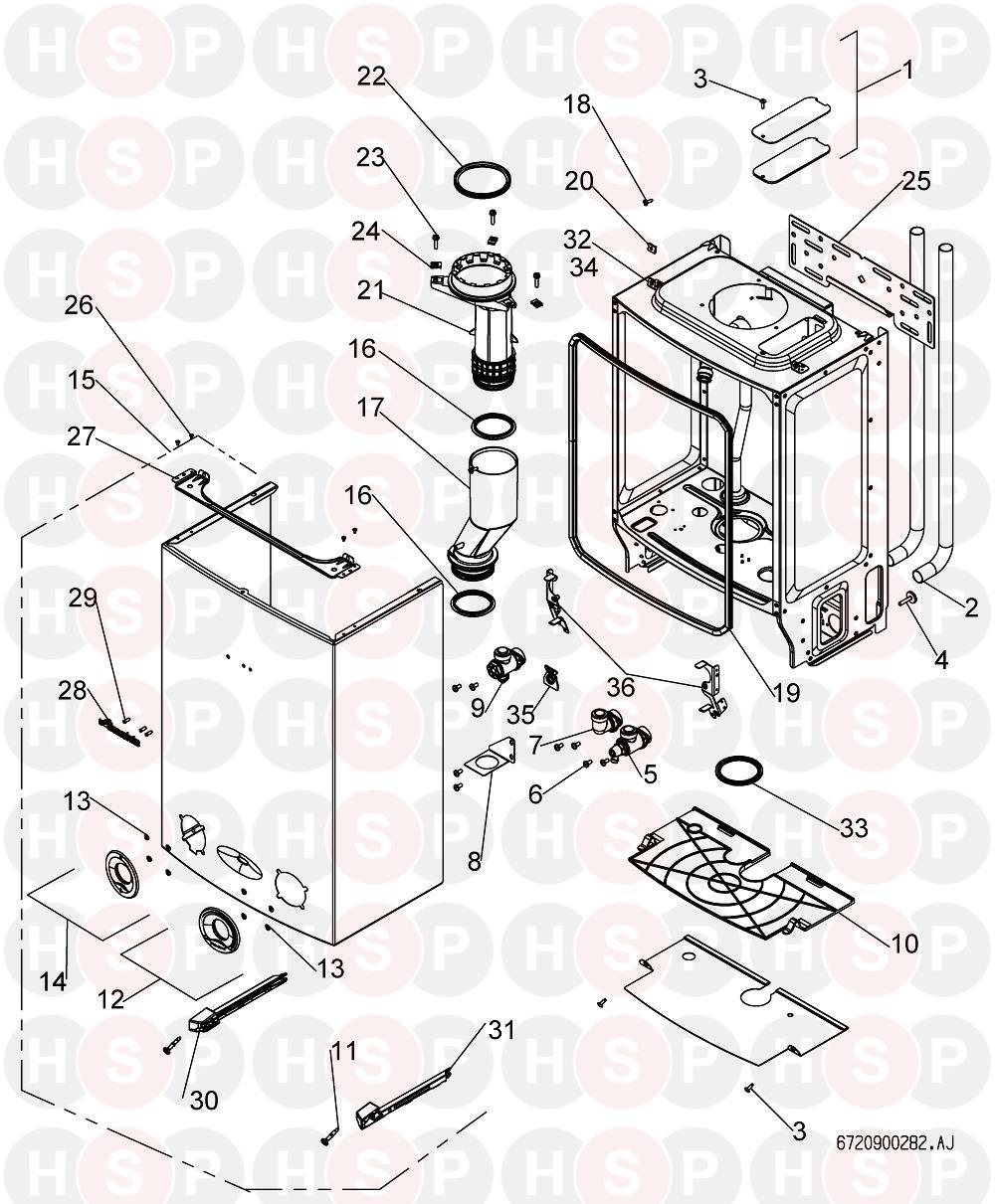 worcester greenstar 24 ri he  casing  diagram