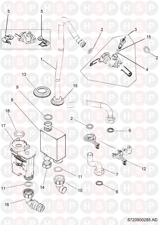 Worcester Greenstar 24 RI HE (Hydraulics) Diagram