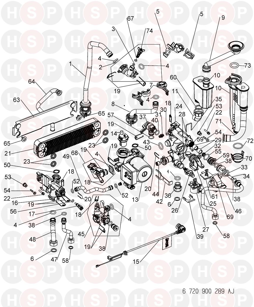 Worcester Greenstar 24i system (Hydraulics) Diagram   Heating Spare ...
